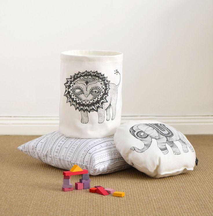 Mini Empire textile bags and cushions