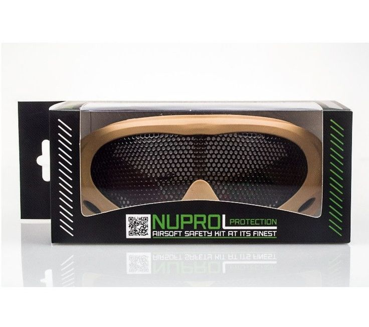 Nuprol Mesh Goggles Coyote Tan | Bushcraft | Airsoft | Prepping