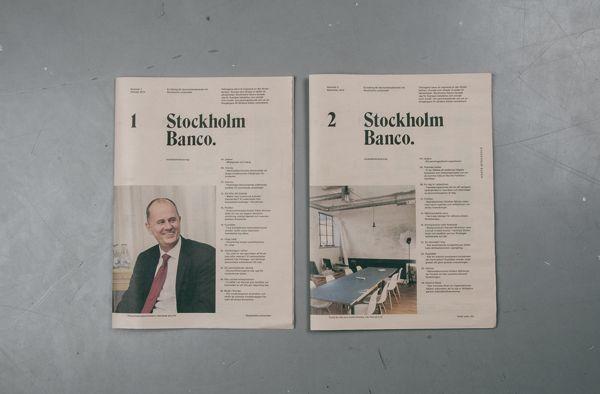 Stockholm Banco by Simon Jung Krestesen, via Behance