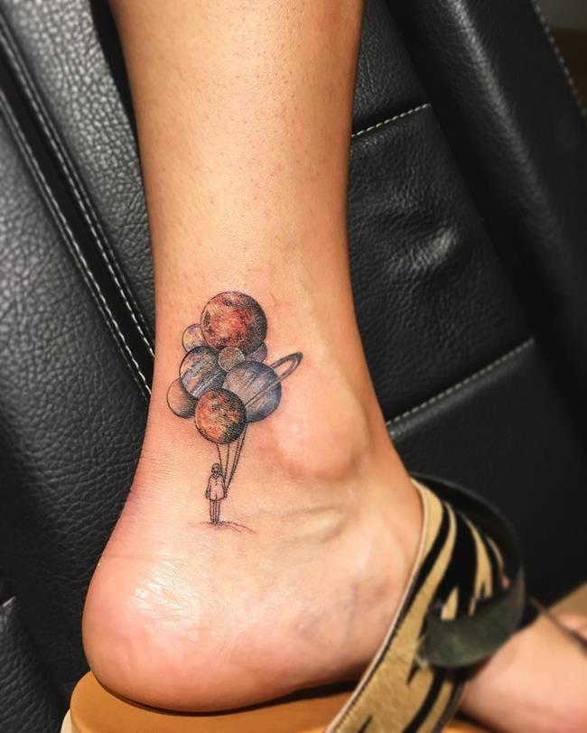 Magical Tattoo Catalog from Turkish Tattooist Eva Krbdk: Circular Landscape Tattoos