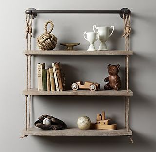 Could probably do a DIY knock off of this shelf..