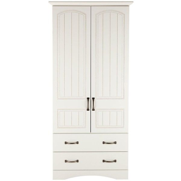 Consort Corby Ready Assembled 2-Door, 2-Drawer Wardrobe (29.255 RUB) ❤ liked on Polyvore featuring home, furniture, storage & shelves, armoires, white furniture, adjustable shelving, shelf furniture, drawer furniture i drawer shelves