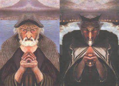 Életóra - Asztrológiai Pszichológia - Huber módszer: Csontváry Kosztka Tivadar: Öreg halász című festménye - A jó és a gonosz kettőssége az emberben
