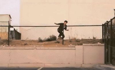 """skateorgif:  Dylan Reider's impossible tailgrab from his """"Gravis"""" part."""