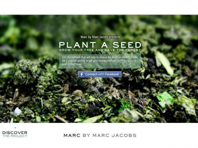 """El diseñador Marc Jacobs está en todo, se le ha visto ayudar contra el cáncer de mama y en otras cuantos proyectos, pero está vez le llamó la atención la protección del medio ambiente.  El proyecto en el que se involucró está a cargo de la asociación """"The Nature Conservancy"""", la cual, a través de la campaña """"Plant a billion trees"""" tiene como objetivo proteger y repoblar el Bosque Atlántico en Brasil."""