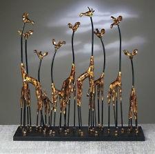 A TOWER OF GIRAFFES SCULPTURE - GIRAFFE FAMILY