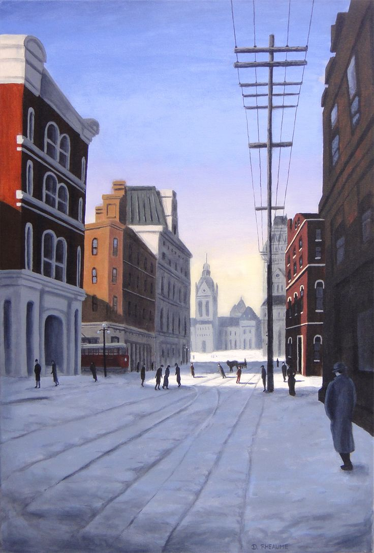 """""""Elgin Street 1890""""  View is looking north towards the old Parliament Buildings.  www.daverheaume.com"""
