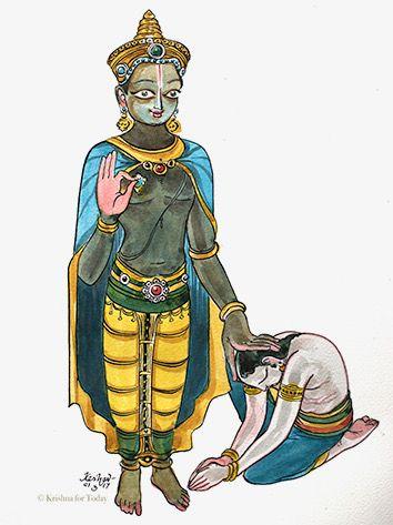 Dialogue with Arjuna. #watercolour #Bhagavadgita #krishnafortoday