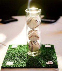 How cute is this base for the centerpiece? It's a little field!