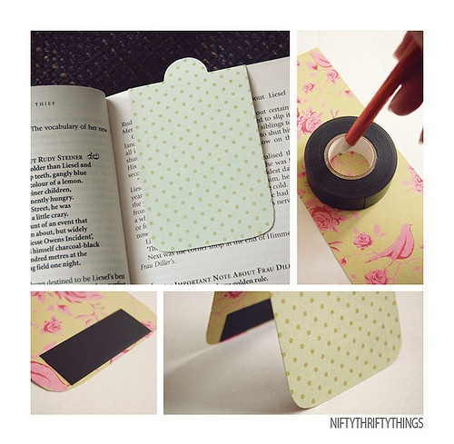 DIY: Magnet Bookmark Girly Craft Day project @Megan Ward Maxwell Wyble and @Desiree Nechacov Nechacov Colborn?