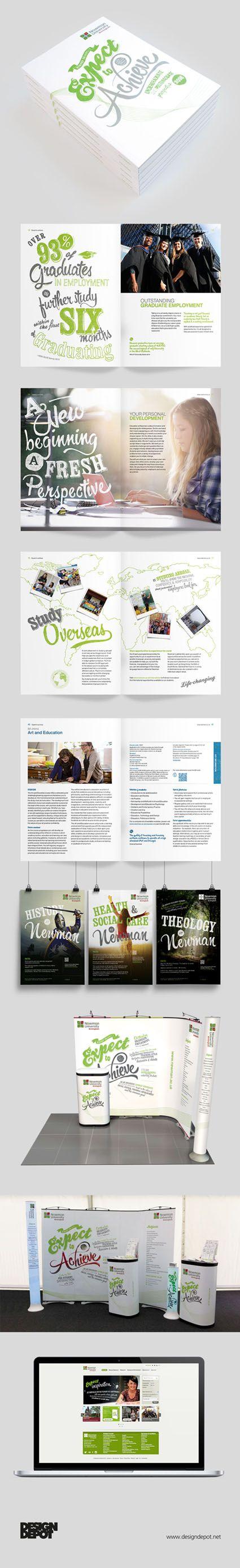 Newman University prospectus, artwork, Birmingham, university, identity, branding, design depot, prospectus, education, graphics, Northamptonshire #DesignDepot