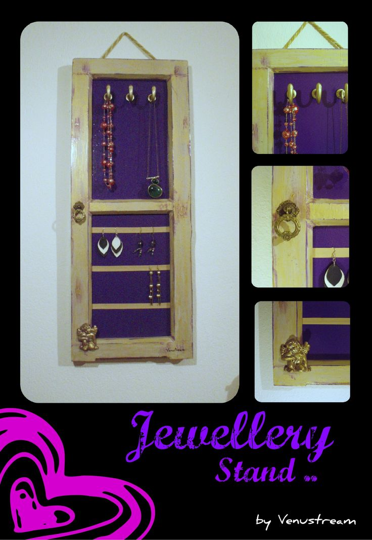 Remake of an old Shutter into a pendant Jewellery Stand..