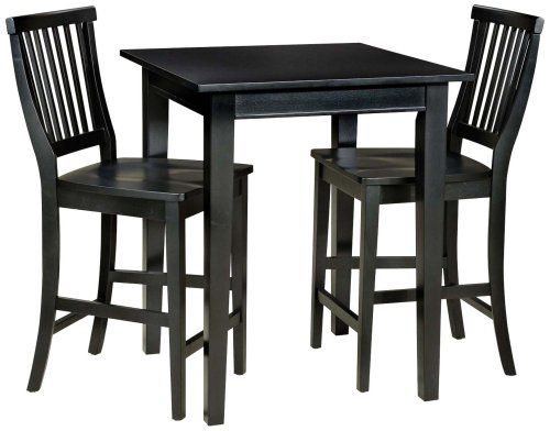 Home Style 5181 359 Arts And Crafts 3 Piece Bistro Set, Black Finish.  Bistro SetPub Table ...