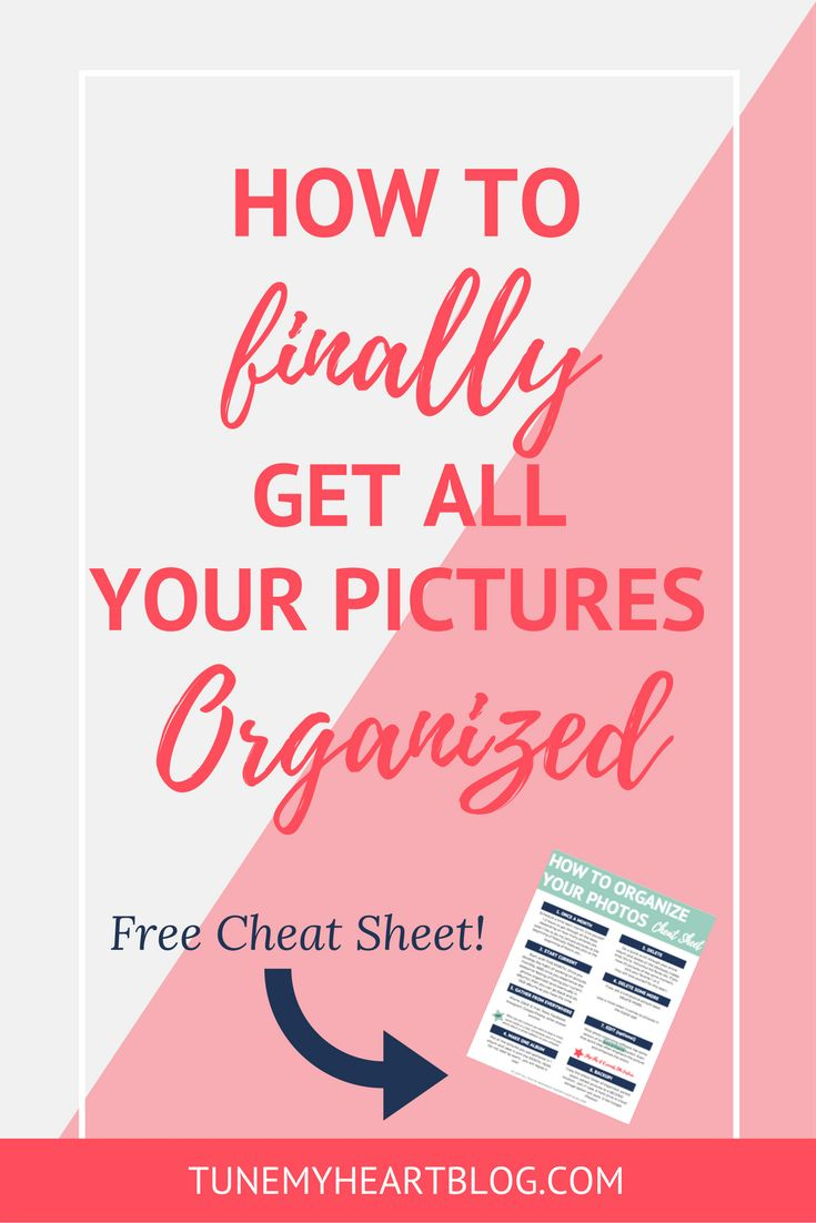 This is the exact system I use to organize all my pictures. And it'll work even if you're really far behind!