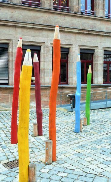'Die+Buntstifte+von+Fürth'+von+Martin+Blättner+bei+artflakes.com+als+Poster+oder+Kunstdruck+$16.63