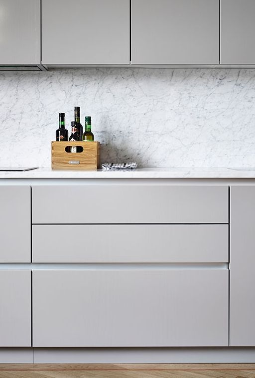 #kitchen #gray #minimal