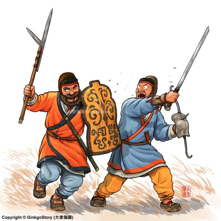 Close combat scene of Eastern Han's warriors, Ginkgo Story on ArtStation at https://www.artstation.com/artwork/kW38K