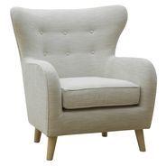Viggo Cream Wingback Armchair