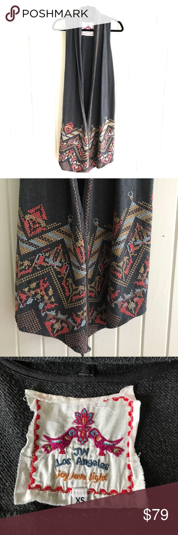 Johnny Was Teegan Draped Jersey Hi-Lo Vest Great jersey cotton vest from Johnny Was LA Hi-Lo Hem leave open or cross over front and tie. Lols fab with jeans and boots , or over a long skirt or dress. New without tags, from my clothing boutique. Johnny Was Jackets & Coats Vests