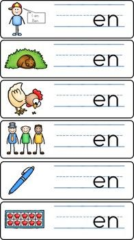 $ Word Families - Write and Wipe Cards (Short Vowel)