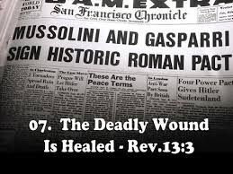 Image result for mussolini and gasparri the head wound that healed