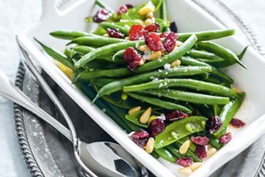 Green bean, sugar snap pea and cranberry salad recipe, NZ Herald – visit Food Hub for New Zealand recipes using local ingredients – foodhub.co.nz
