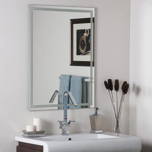 23x31 Houston Modern Frameless Mirror