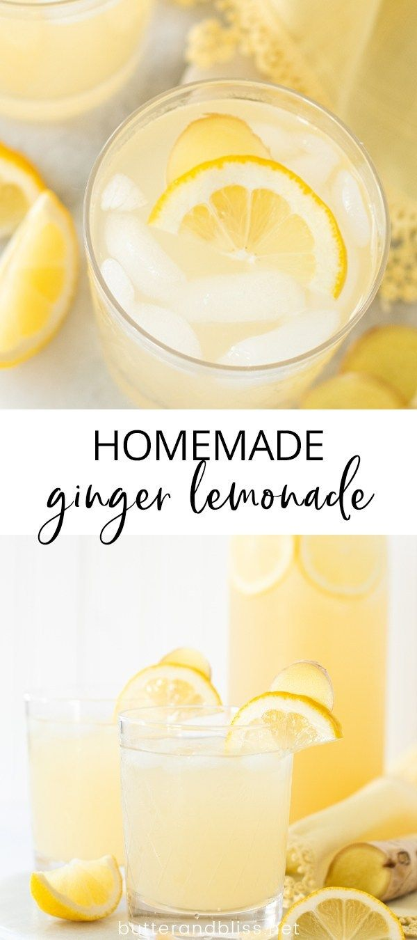 Refreshing Ginger Lemonade Butter And Bliss Recipe Ginger Lemonade Homemade Lemonade Recipes Ginger Drink Recipe