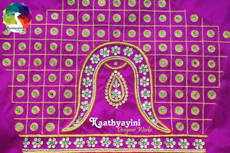 Designer Bridal Blouse. Beautiful Vanki Design Blouse from KaathayiniDesignerWorks.  https://www.facebook.com/kaathyayinidesignerworks