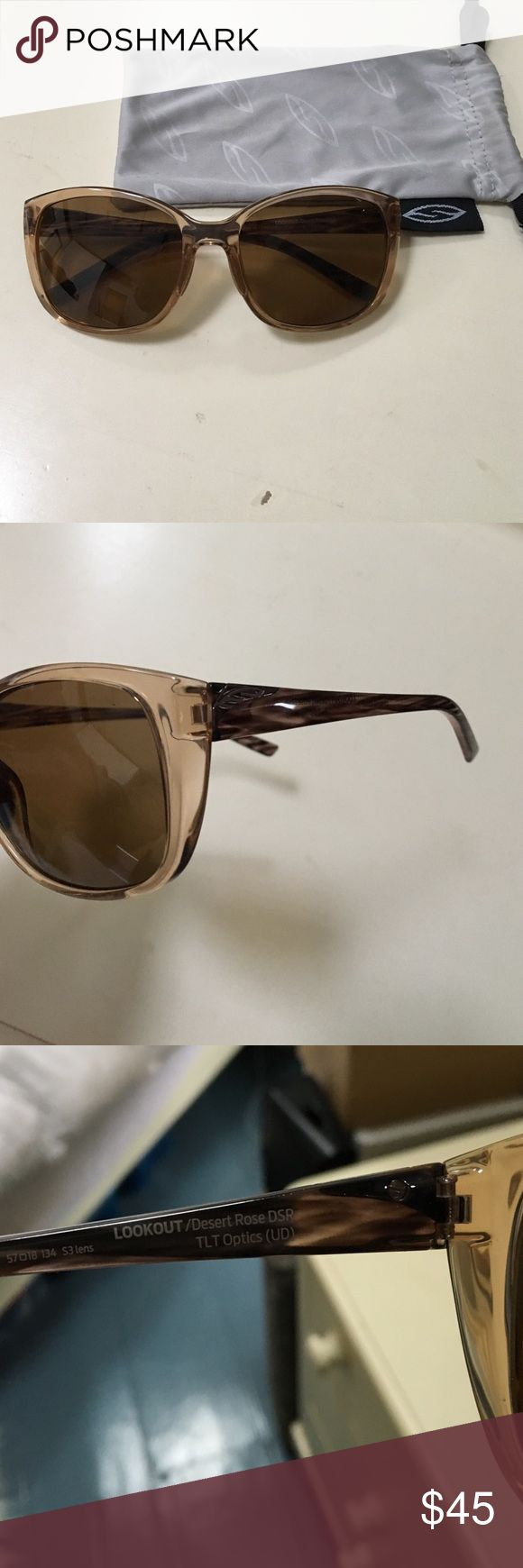 Smith Optics Lookout sunglasses Desert Rose frame with bronze lens. Like new. Smith Optics Accessories Sunglasses