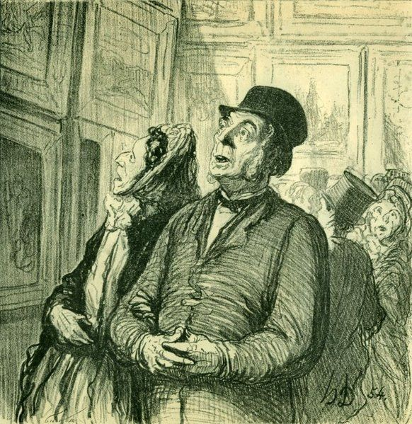 Honore Daumier, Sunday at the Museum, lithography