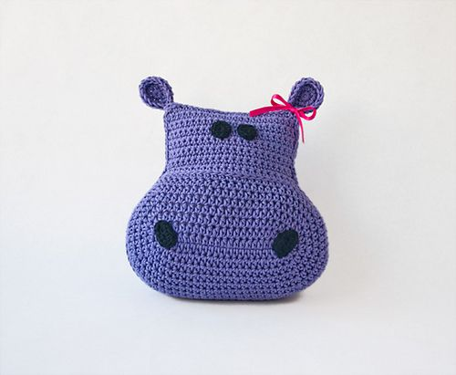 Animal Pillow Knitting Patterns : 17 Best images about crochet ~ hippos on Pinterest Hexagon crochet, Ravelry and Plush