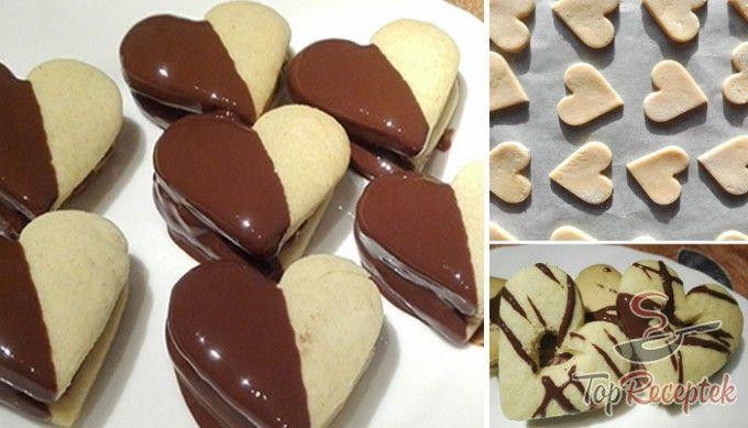 Csokikrémes, csokival díszített szívek | TopReceptek.hu
