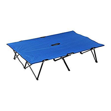 Outsunny Two Person Double Wide Folding Camping Cot  #Outsunny Two-Person Double Wide Folding Camping Cot is a fully collapsible and nicely packable portable cot with a price tag that is hard to match. #DoubleCots, #DoubleCampingCots, #CotsForTwoPeople