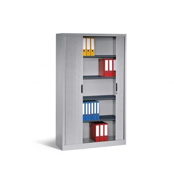 Aktenschrank Omnispace Mit Rollladen 5 Ordnerhohen 198x120x42cm Aktenschrank Rollladen Rollladenschrank