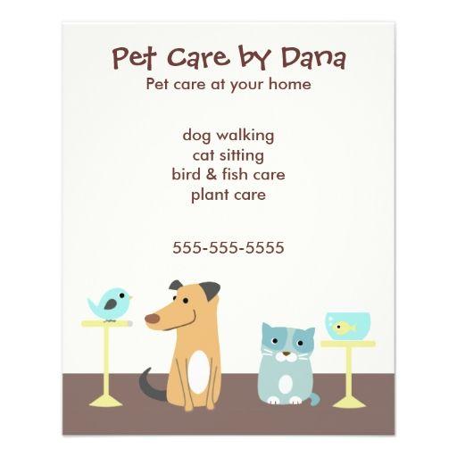 Pet Sitter's Advertising Custom Flyer