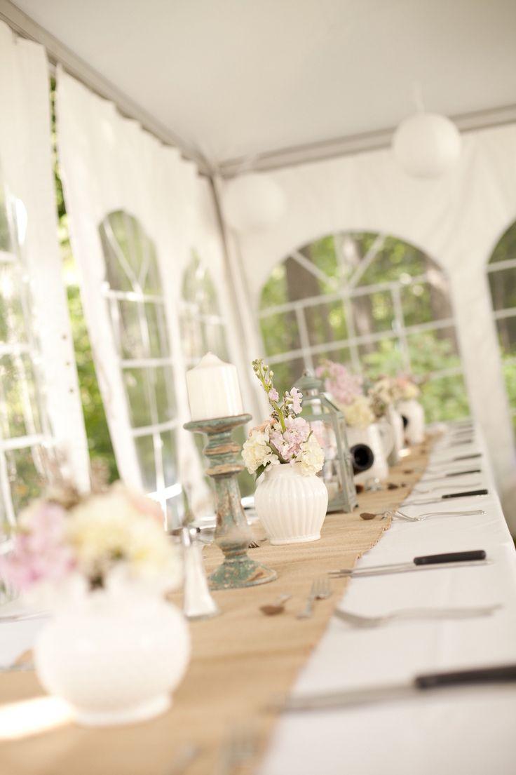 Backyard wedding table