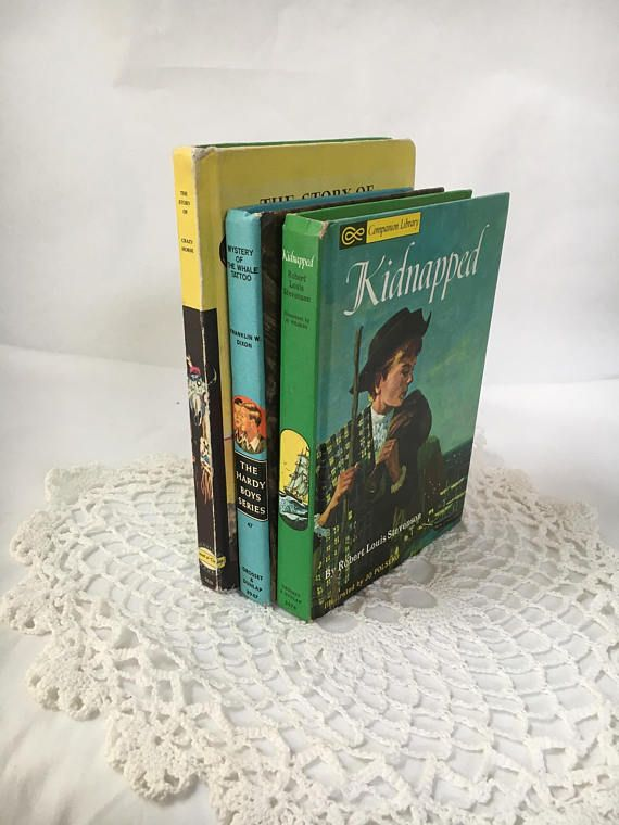 Vintage hardbound book set. Set of three display books. A great collectors set of vintage books. Use as display piece or a book set to read. The books are in good vintage condition with some wear on edges and binding of book covers. Please view photos. There are no torn pages and