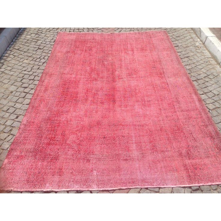Image of Turkish Pink Overdyed Hand Knotted Rug - 7′9″ × 11′5″