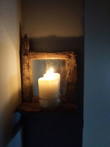 Driftwood sconce. Made by me.