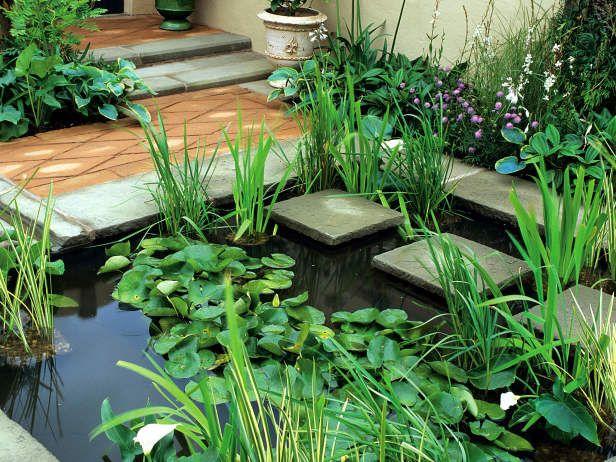 Inexpensive water features water gardens pinterest for Estanques japoneses jardin