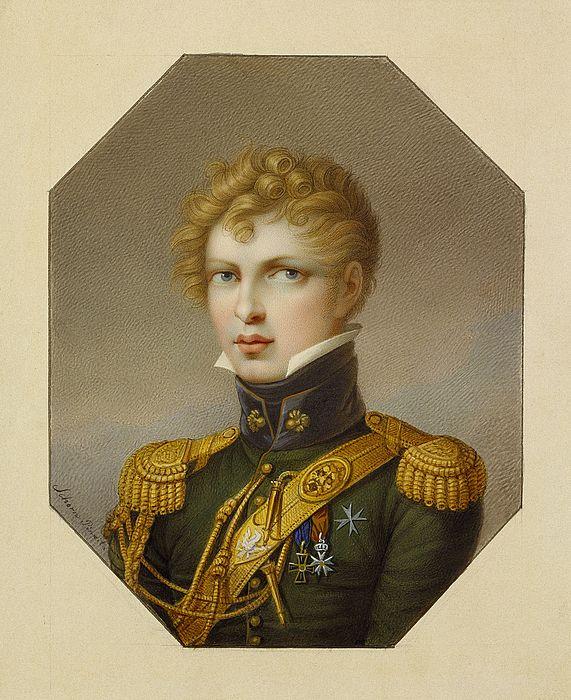 Włodzimierz Potocki- colonel of horse artyllery by J.Schorn ca 1812
