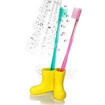 Diş Fırçası Tutacağı Çizme Sarı