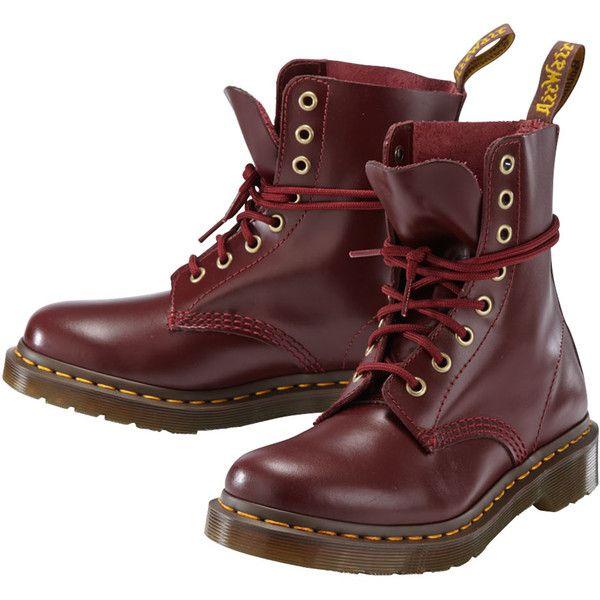 DR. MARTENS Stifelette (8.155 RUB) ❤ liked on Polyvore featuring shoes, bordeaux, dr. martens, dr martens footwear, bordeaux shoes and dr martens shoes