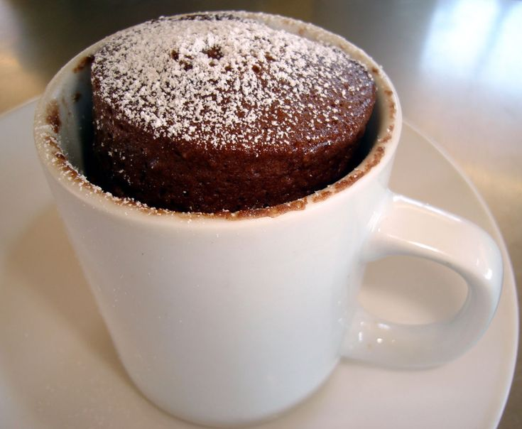 Microwave Chocolate Cake in a Mug Recipe - easy and delicious on a miserable Saturday afternoon!!
