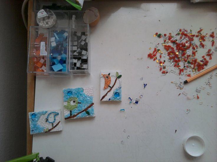 birds in progress