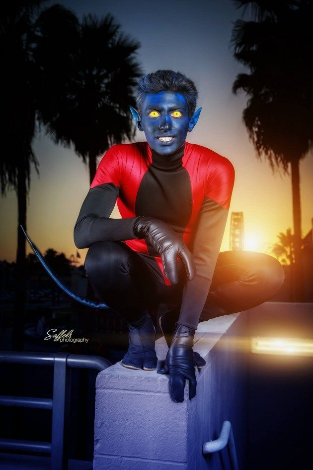 Nightcrawler of The X-Men  (photography by Mike Saffels)