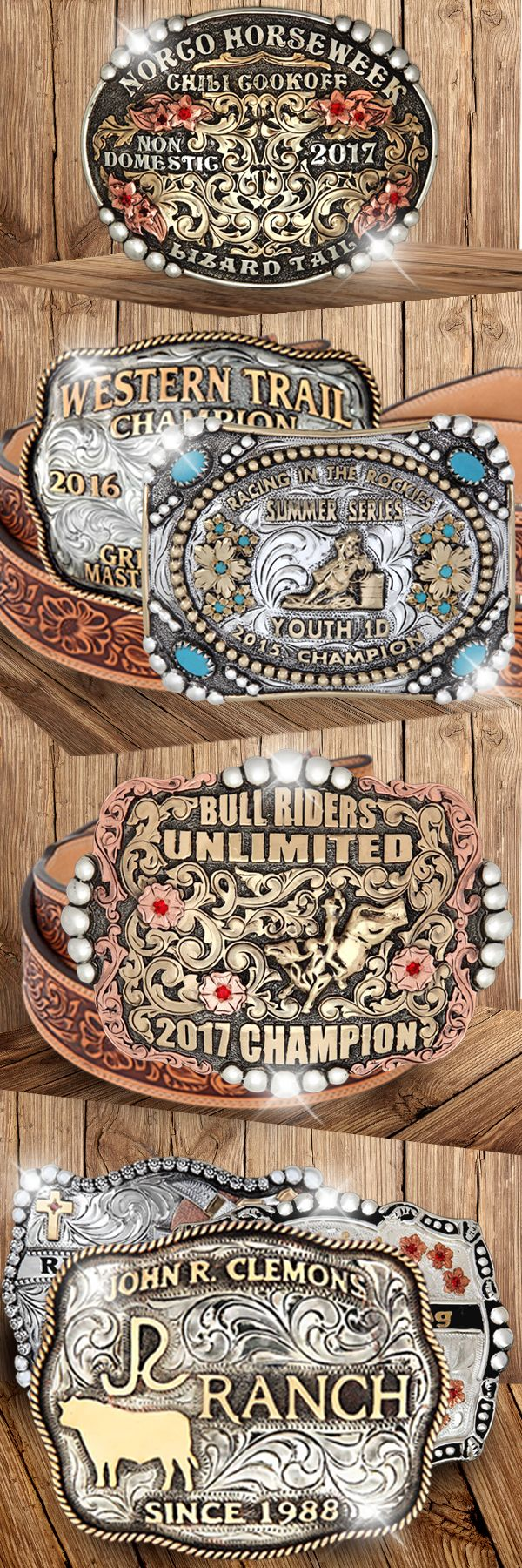 Choose from a beautiful variety of custom and stock western buckles for any occasion.