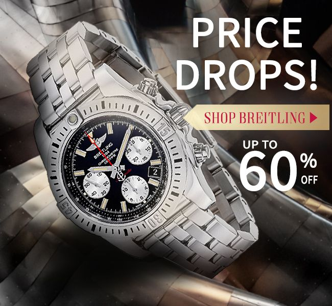 ⚠ Price drop alert: up to $200 off #Breitling #watches! Shop AuthenticWatches.com incredible prices & find perfect #ValentinesDay #gifts for them and new #luxury #watches for you!
