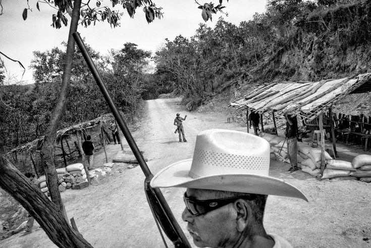 A self-defense group. Apantla, Mexico.